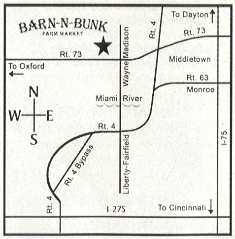 Map and Directions to Barn-n-Bunk
